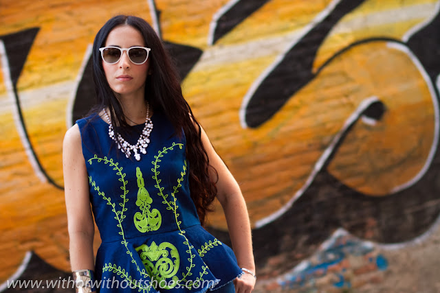 Denim on Denim: EmbroideredPeplum Vest