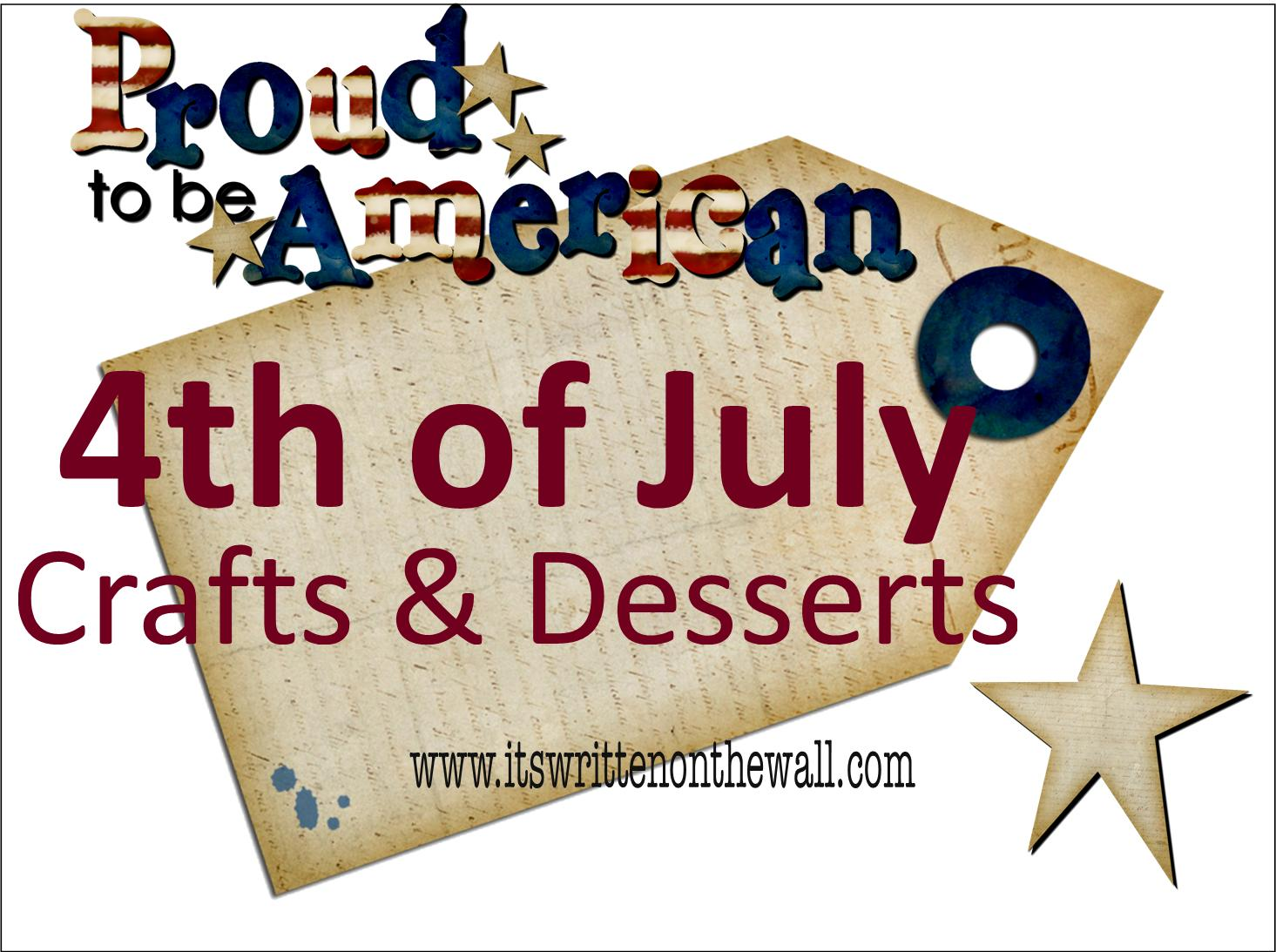 on the Wall: Amazing 4th of July Crafts, Decorations and Desserts