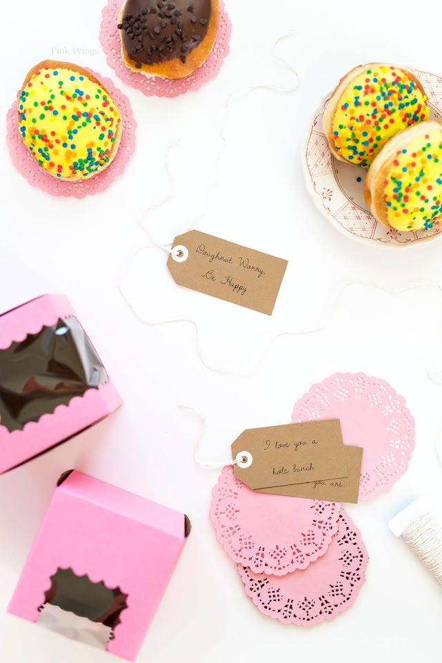 how to package donuts as a gift, doughnut box, donut memes, puns, lds mormon food blogger
