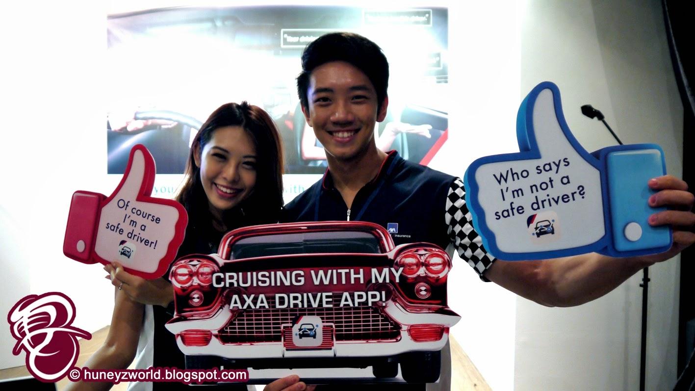 drive safe with 39 axa drive 39 mobile app huney 39 z world. Black Bedroom Furniture Sets. Home Design Ideas