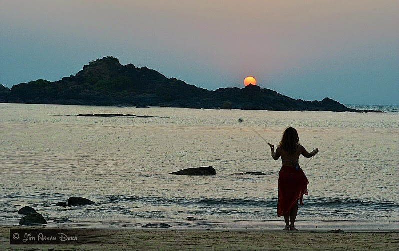 A dancer on Om Beach, Gokarna (photo - Jim Ankan Deka)