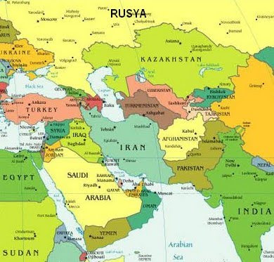 Kazakistan Dünya Haritasındaki Yeri