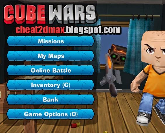 Cube Wars, Cheats,Damage, HP(Health), Unlimited Ammo, hack