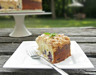 Blueberry Cheese Crumb Cake