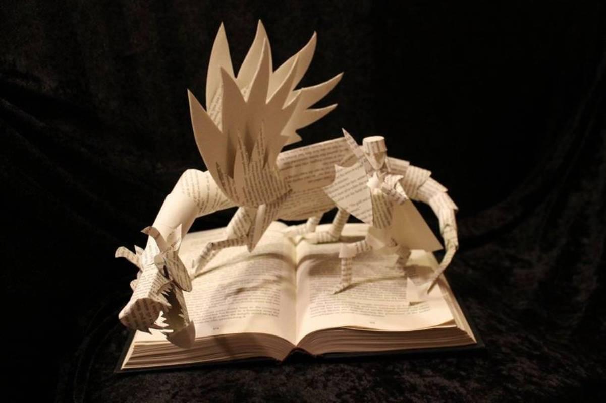 Book carving art