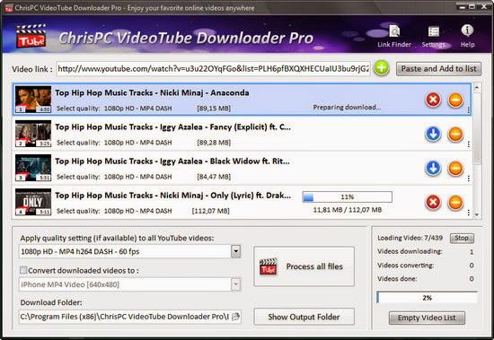 Download ChrisPC VideoTube Downloader Pro 7.30 Free Software