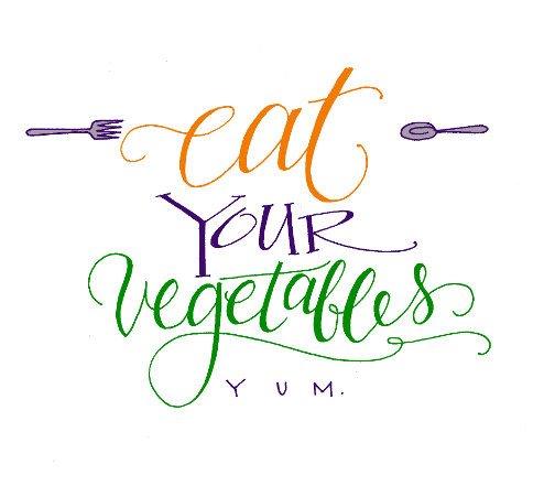 Lettering Lately > Mom's advice-eat your vegetables