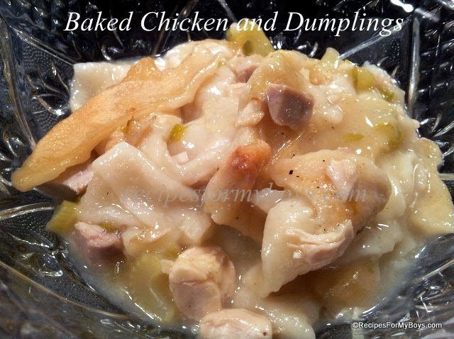 Baked Chicken and Dumplings and Rhodes Cookbook Giveaway recipes
