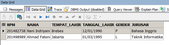 Bagaimana Cara Insert Data ke Table di Database Oracle