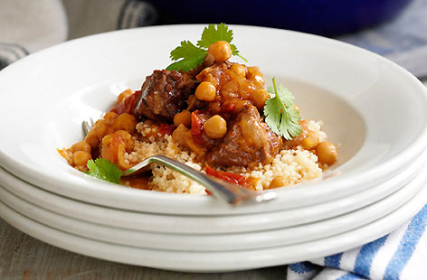Lamb tagine with chickpeas recipe - How to make lamb tagine with ...