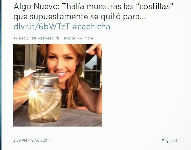 Thalía muestras las ( Costillas ) Que segun ella se Quitó