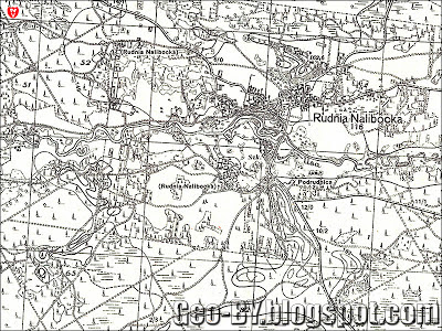 Карта 1938 года, Польша, WIG, фрагмент квадрата P33-S43-D