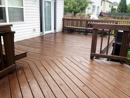 Tim S Quality Painting Fishers In Fishers Stained Deck