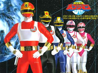 A equipe do super sentai japonês Esquadrão Relâmpago Changeman