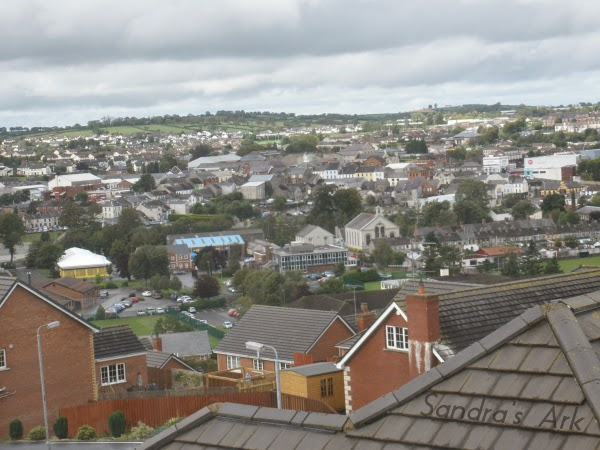 Picture of the town of Banbridge Northern Ireland from the top of a hill