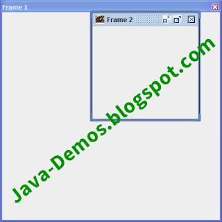 JFrame in Swing Example