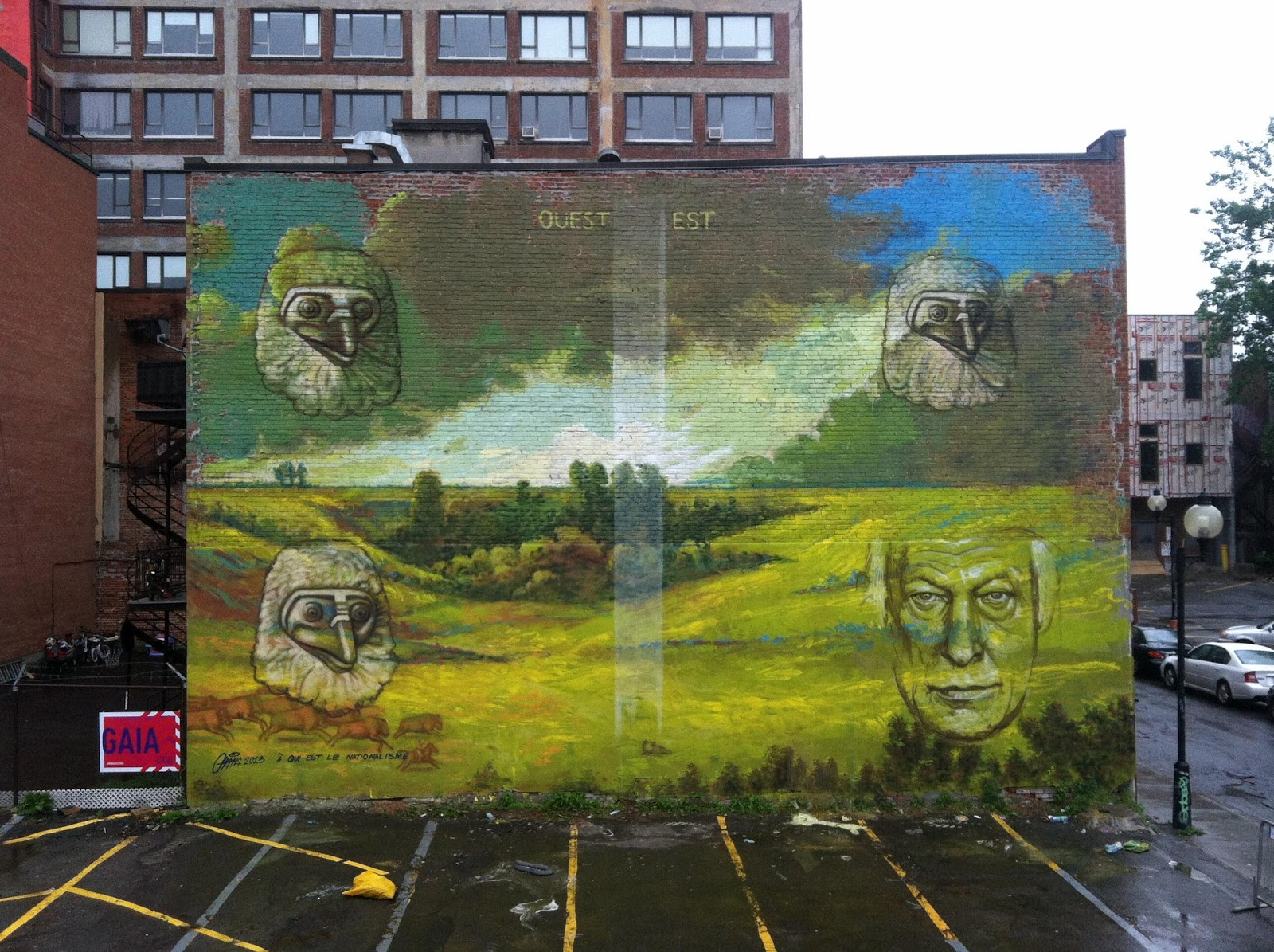 gaia new mural in montreal canada streetartnews streetartnews gaia new mural in montreal canada