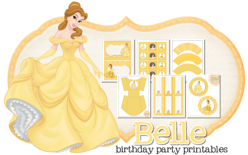 Belle Free Printable Kit. | Is it for PARTIES? Is it FREE ...