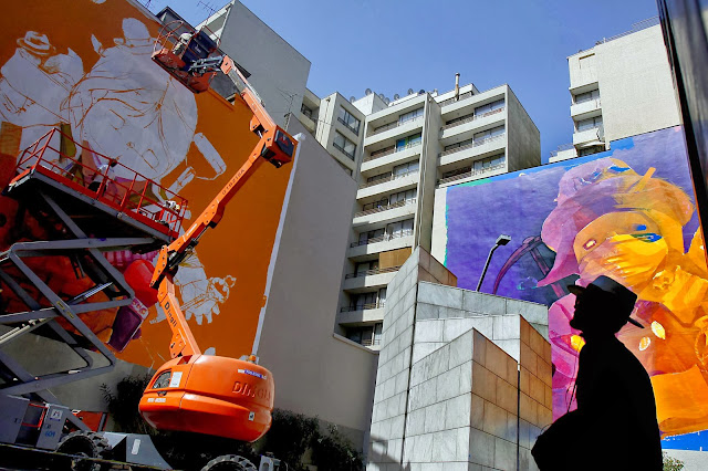 Inti new murals for hecho en casa santiago chile for Carpenter papel mural santiago chile