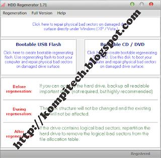 Cara Memperbaiki Bad Sector Menggunakan HDD Regenerator ...