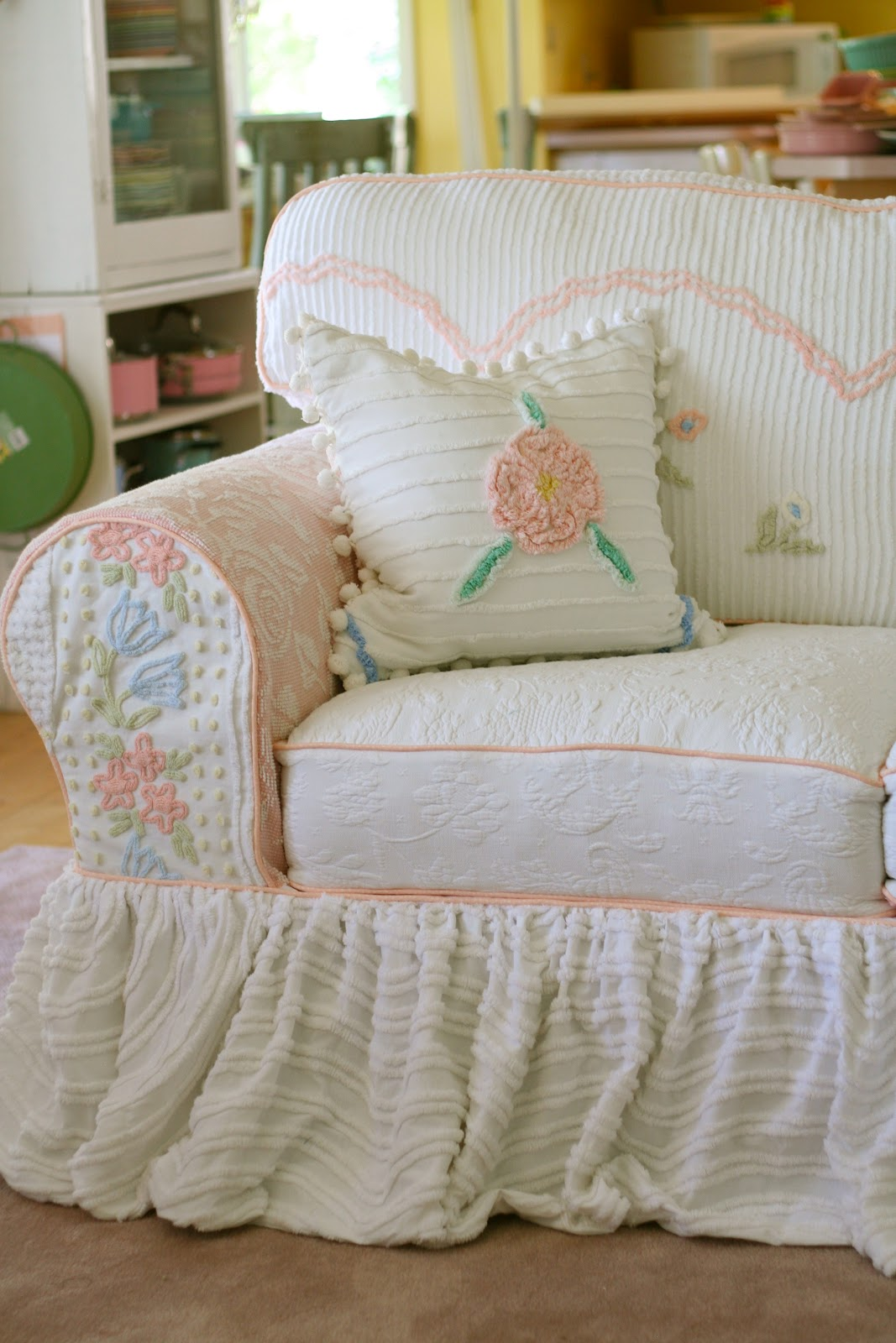 Custom Slipcovers By Shelley Vintage Chenille Bedspread Slipcovers