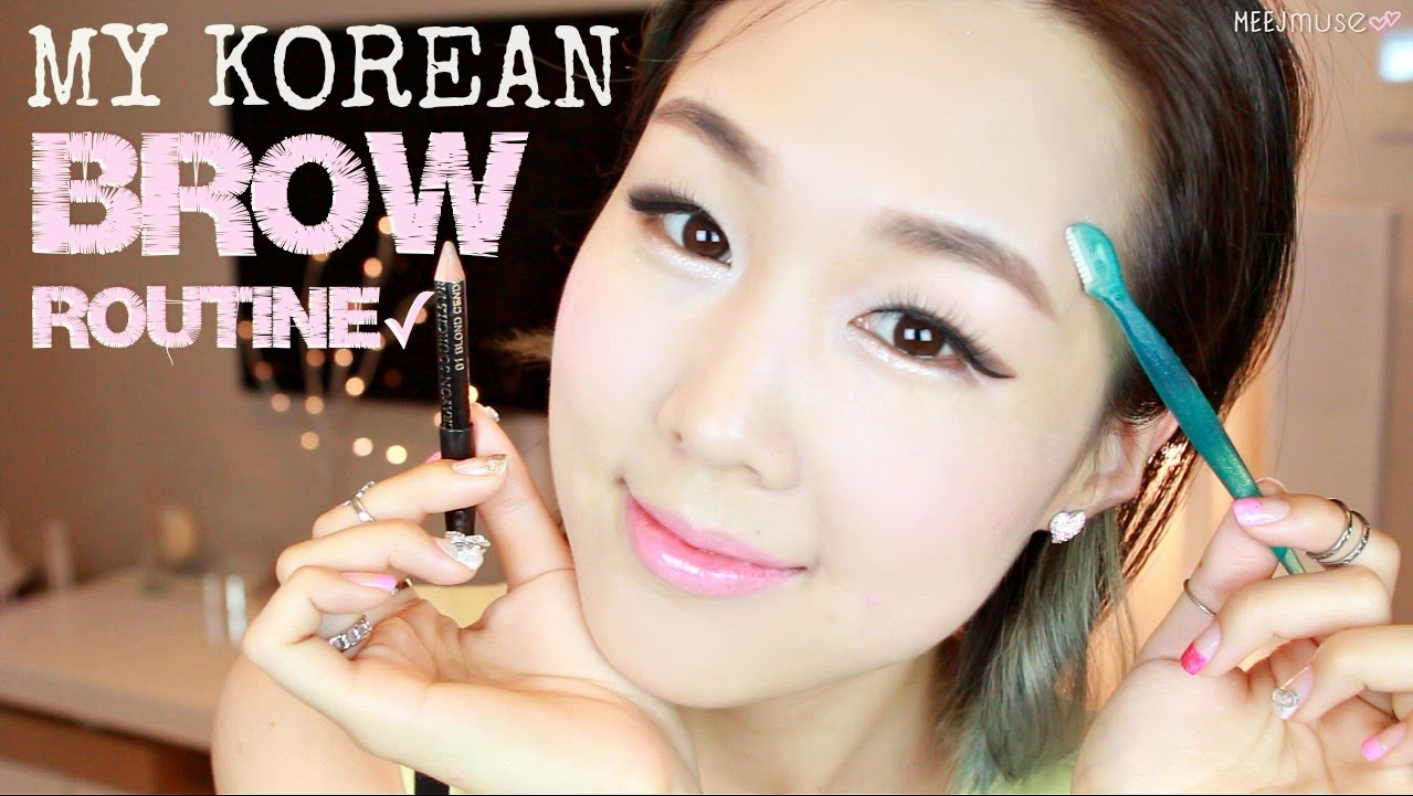Pictorial: Korean Brows In 4 Steps  Grooming, Shaping And Drawing