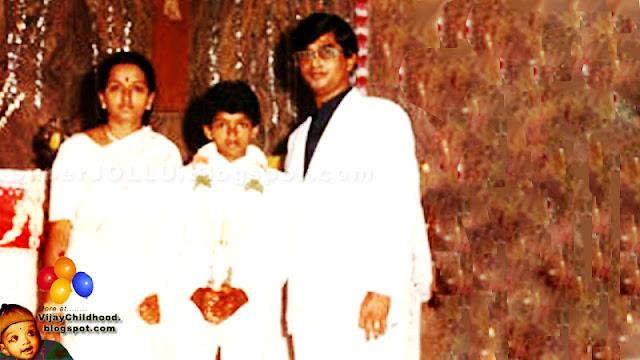 Vijay with S.A. Chandrasekaran & Shobha
