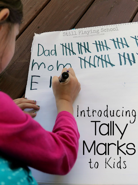 Teaching tally marks to kids