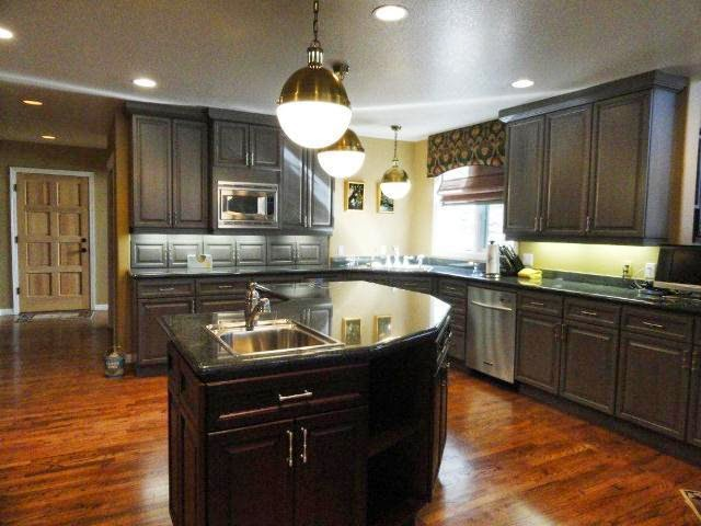 wall paint for dark kitchen cabinets