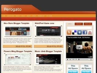 Perogato Blogger template,Perogato