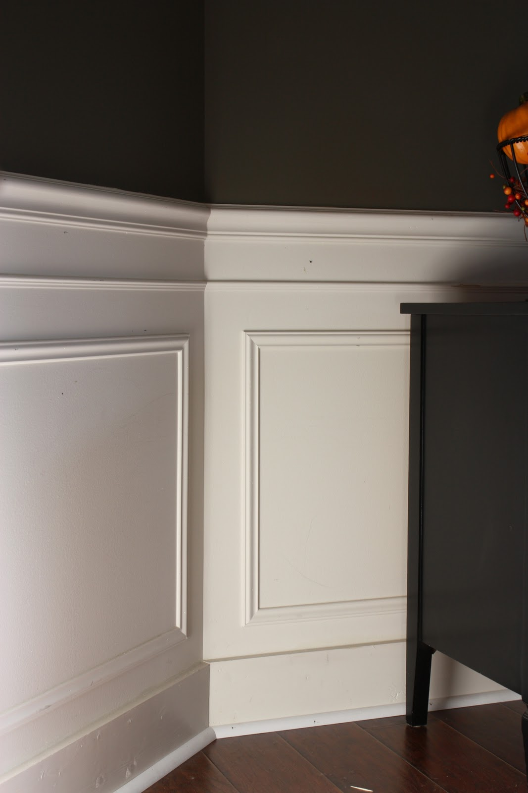 The yellow cape cod 31 days of character building for Dining room wainscoting