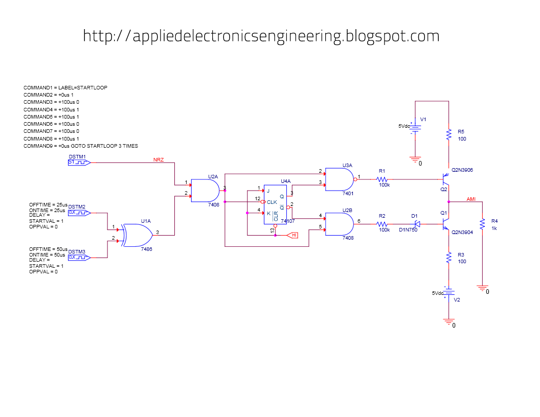 Ami Bipolar Encoding Circuit Design Example Electronic2017 Schematic