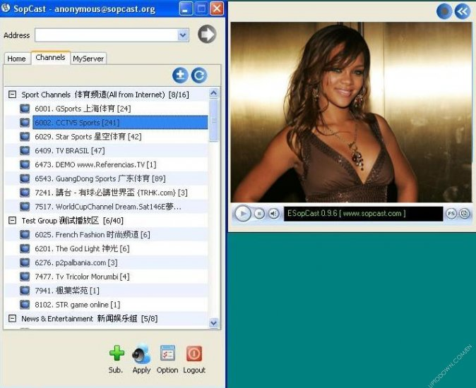 Free Software Download - Free P2P internet TV | live