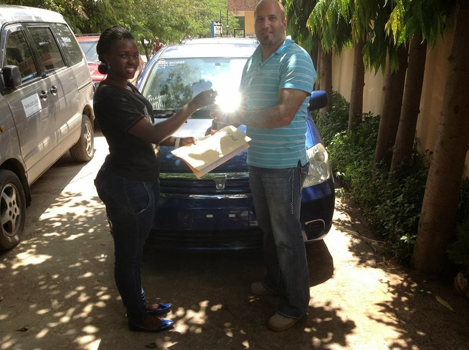 Our administrative officer Miss.Lydia Msafiri handling Nissan cube and