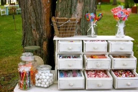 Oh mywedding cajones antiguos para bodas r sticas o vintage for Mini candy bar de madera