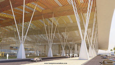 Bengaluru International Airport Terminal 1 expansion plan curb view