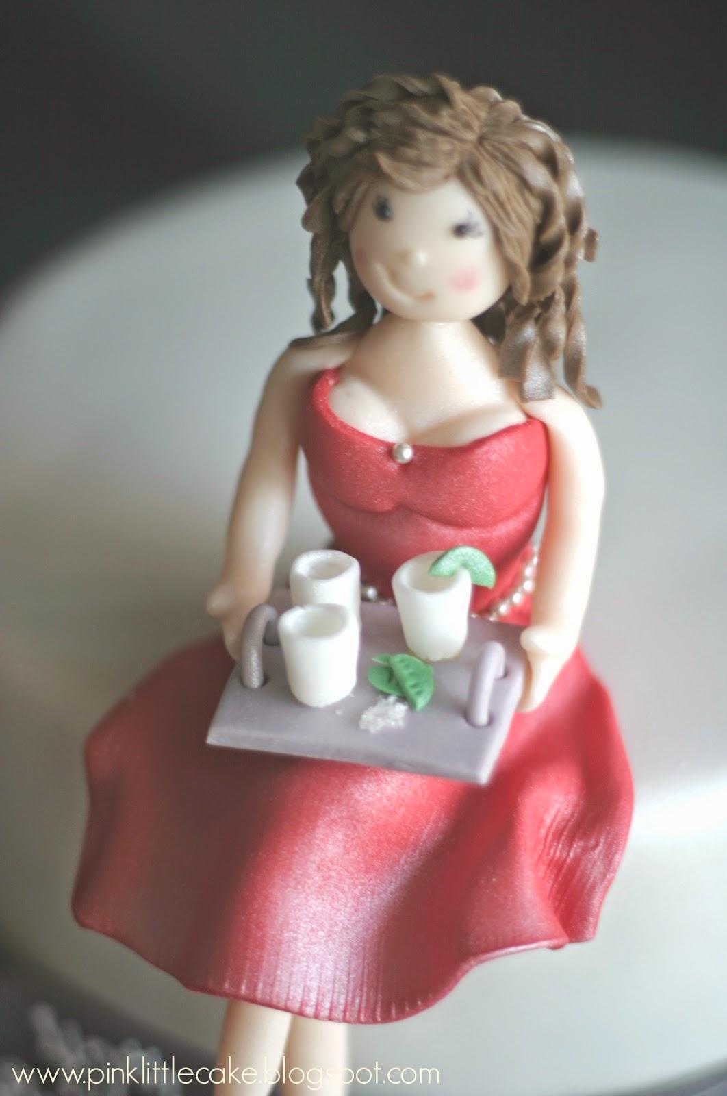 Pink Little Cake 40th Birthday Cake