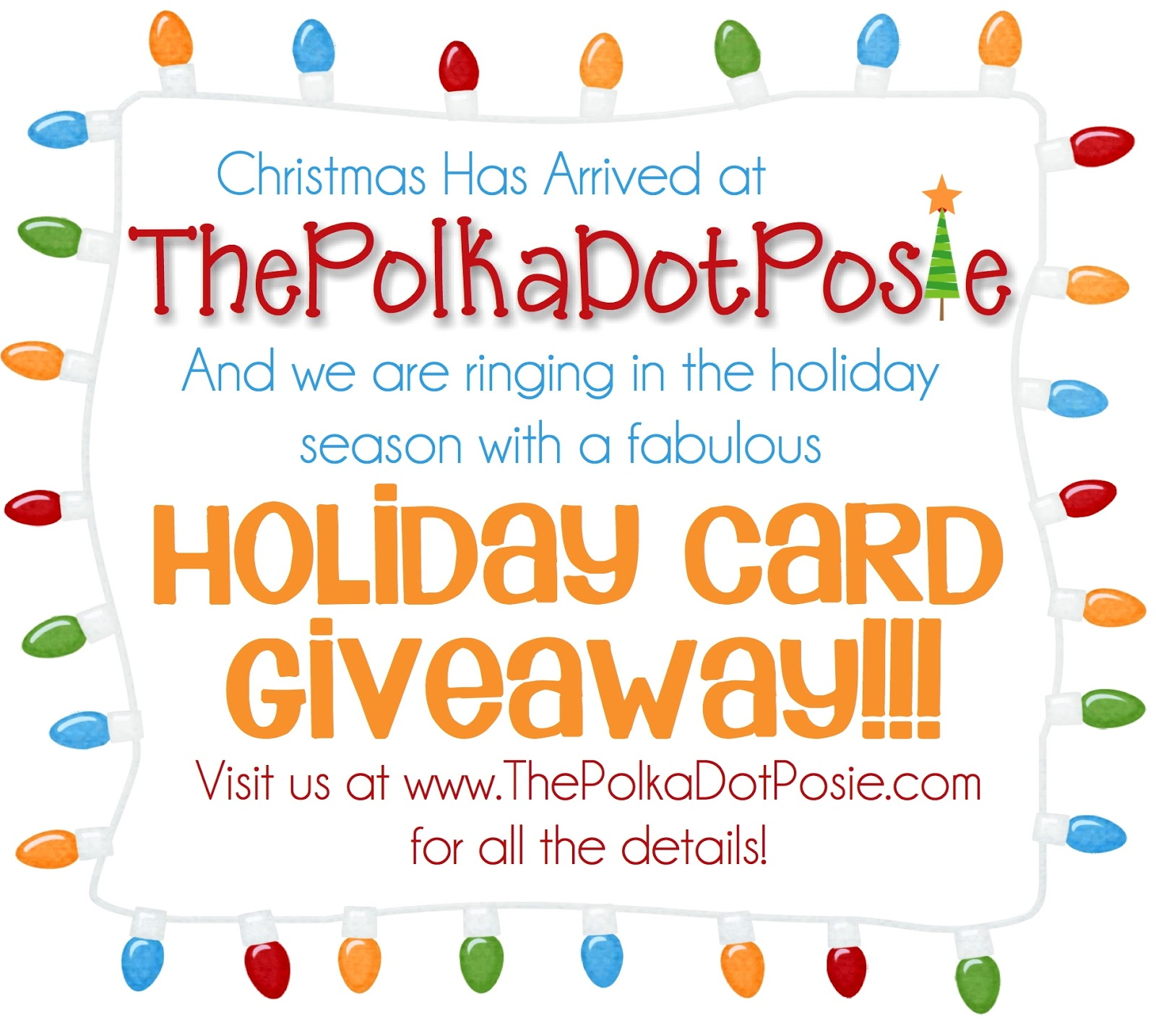 the polka dot posie  the fabulous christmas card giveaway