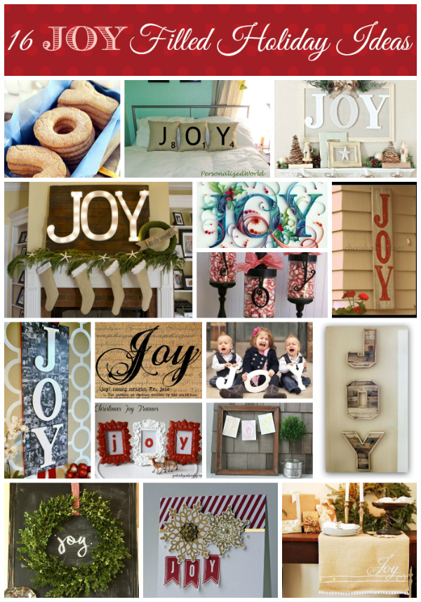 JOY filled holiday ideas