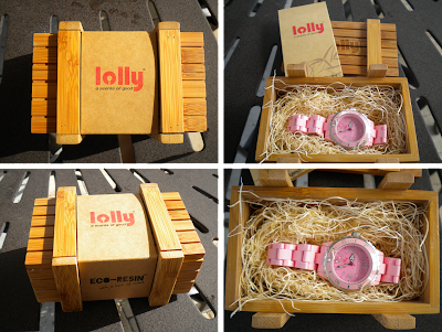 The Lolly Watch packaging