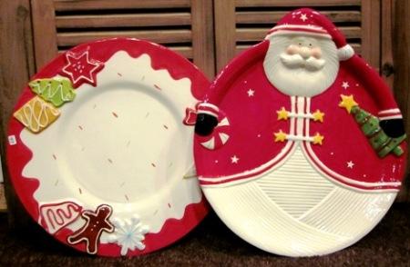 Bandejas ceramica Navidad