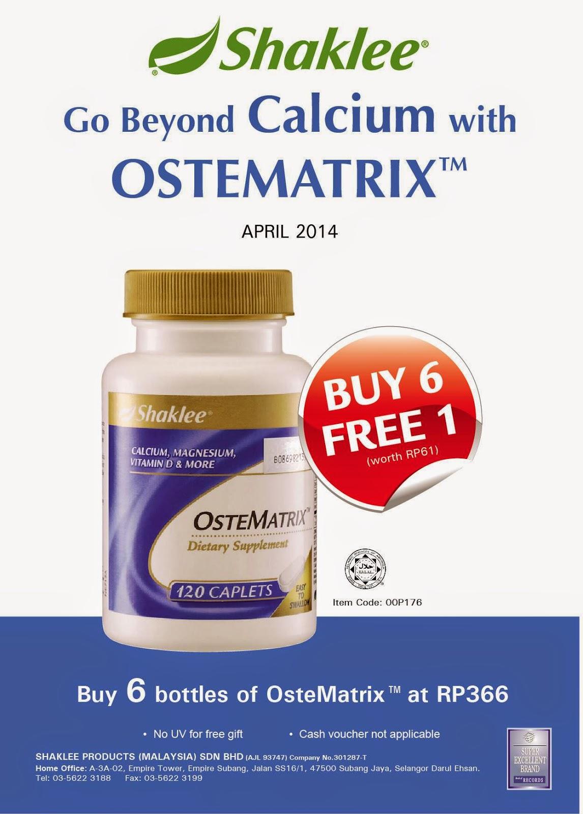 Ostematrix untuk kesihatan tulang elak osteoporosis