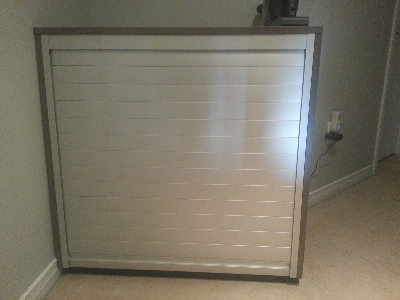 Ikea Galant Roll Front Cabinet ~   simple Ikea hack of a Galant Roll Front Cabinet as a kitty litter box
