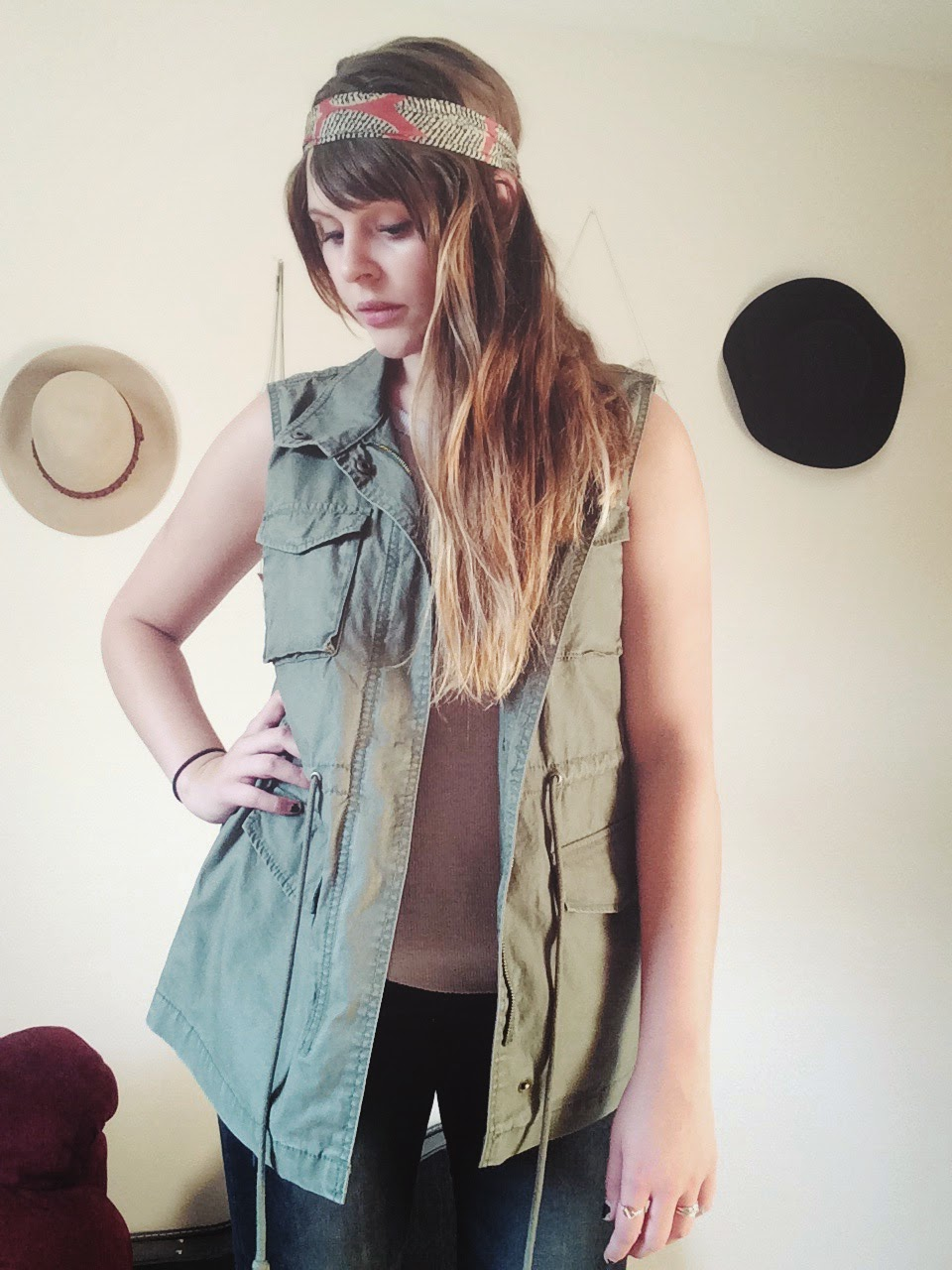 army-inspired vest
