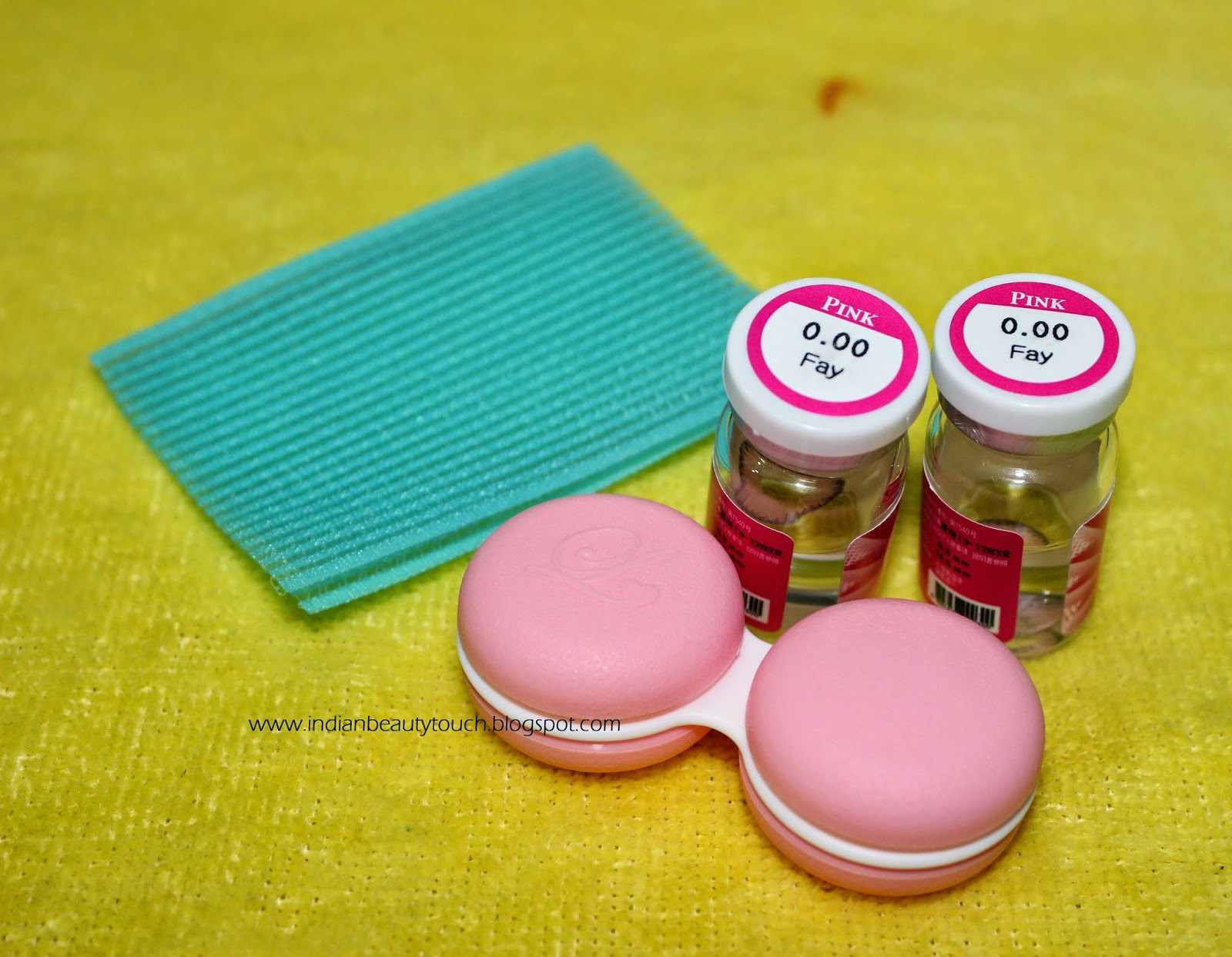 Pinky Paradise Circle lens in Eos fairy pink