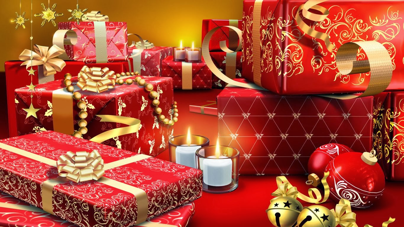 picture collection  christmas gifts desktop background