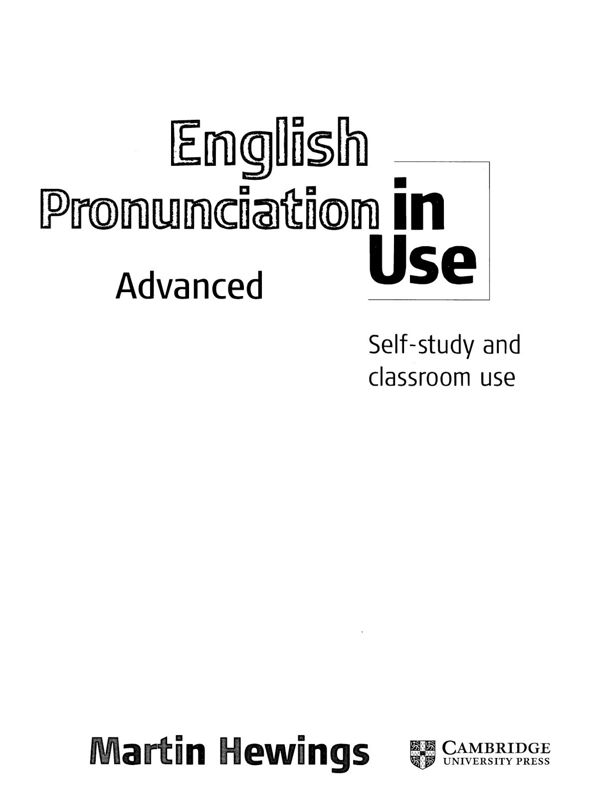 English Pronunciation in Use Advance