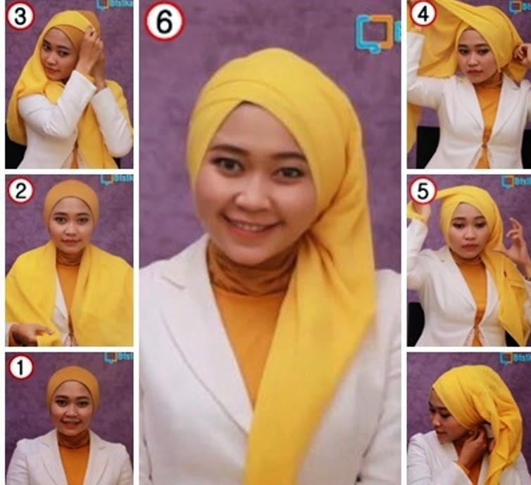 Tutorial Hijab Segi Empat Dian Pelangi Untuk Wajah Bulat tutorial ...