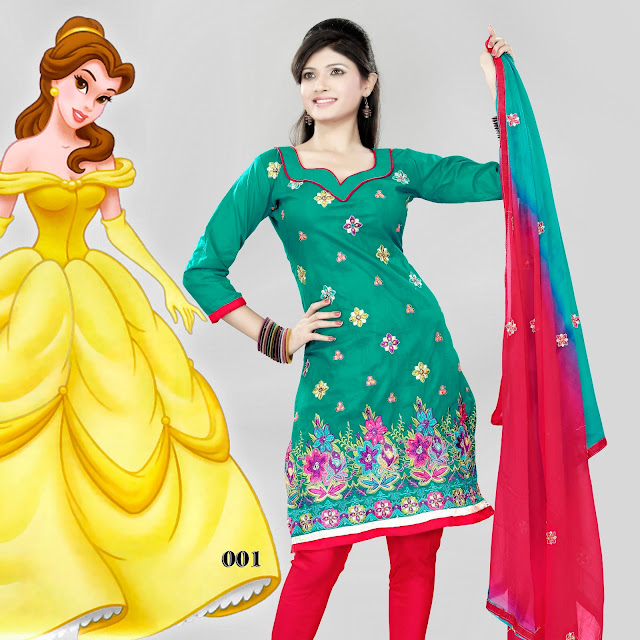 Cotton embroidered salwar kameez – Indian Designer Salwar suits
