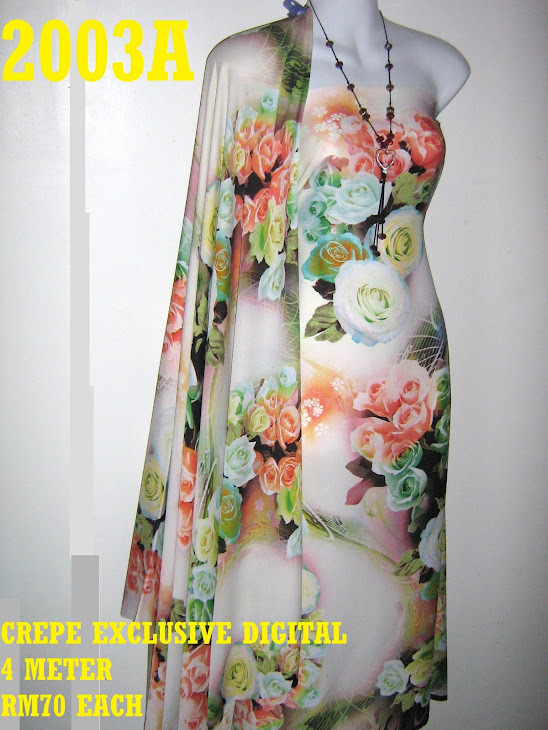 CP 2003A: CREPE EXCLUSIVE DIGITAL PRINTED, 4 METER